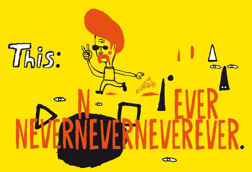 this nevernever poster handdrawn letters kenneth andersson illustration